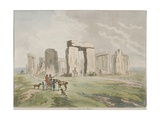 Stonehenge, Seven Miles North West of Salisbury, 1791 Giclee Print by Julius Caesar Ibbetson