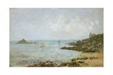 The Bay of Douarnenez and Ile Tristan Giclee Print by Eugène Boudin