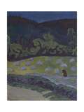 Haymaking by Moonlight Giclee Print by Paul Serusier