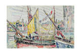 The Port of La Rochelle Gicléetryck av Paul Signac