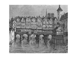 View of the Ancient Pont-Au-Change Giclee Print by Louis Dupré