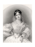 Letitia Elizabeth Landon, Engraved by J. Thompson, from 'The National Portrait Gallery, Volume… Giclee Print by G. Machse