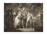 The Forest, Act V, Scene IV, from 'As You Like It', from the Boydell Shakespeare Gallery,… Giclee Print by William Hamilton