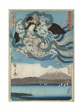 Ejiri, Published by Maru-Ya Kyushiro, C.1850 Giclee Print by  Utagawa Hiroshige and Kunisada