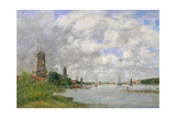 The River Meuse at Dordrecht, 1876 Giclee Print by Eugène Boudin