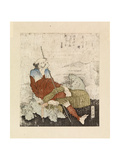 Fisherman Smoking Beside a Stream, C.1835 Giclée-Druck von Katsushika Hokusai