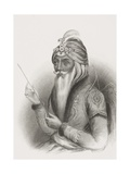 Maharaja Ranjit Singh, from 'Gallery of Historical Portraits', Published C.1880 Giclee Print