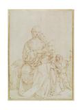 Virgin and Child with Infant St John, C.1518 Giclee Print by Albrecht Dürer or Duerer