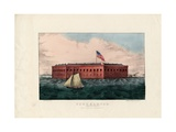 Fort Sumter: Charleston Harbor, S.C., Pub. by Currier and Ives, C.1861 Giclee Print by Charles Parsons