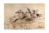 Roping a Wolf, 1890 Giclee Print by Charles Marion Russell