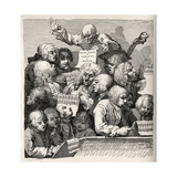 The Chorus, from 'The Works of William Hogarth', Published 1833 Giclee Print by William Hogarth