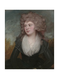 Portrait of Mary Macdonnell Chichester in an Original Frame by the Artist Giclee Print by George Romney