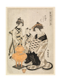 Courtesan and Attendants Heating Sake, C.1766-80 Giclee Print by Isoda Koryusai