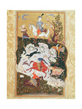 Hunting Scene from 'The Book of Love', Safavid Dynasty Giclee Print
