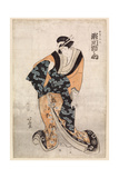 Actor, Segawa Michinosuke, in the Part of the Courtesan Omune, 1807 Giclée-Druck von Katsushika Hokusai