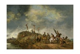 A View of Mount Calvary with the Crucifixion, 1652 Giclee Print by Philips Wouwermans Or Wouwerman