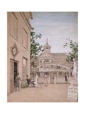 Whistler in the Cremorne Gardens, Chelsea, 1869 Giclee Print by Walter Greaves