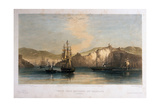 Troop Ships Becalmed Off Balaklava, Morning, Engraved by T.G. Dutton, Published by Colnaghi and… Giclee Print by Oswald Walter Brierly
