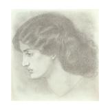 Jane Morris, 1861 Giclee Print by Dante Gabriel Rossetti