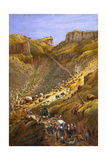 The Chetta Ravine, Abyssinia, 1868 Giclee Print by Lt Cornelius Francis James