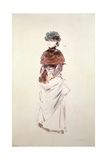 Study of a Young Woman with Her Hands in a Muff Giclee Print by Jean Louis Forain