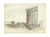 Temple of Jupiter, Baalbeck Giclee Print by Claude Conder