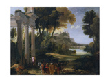 Classical Landscape, 1760 Giclee Print by Giovanni Paolo Panini
