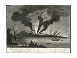 View of the Big Eruption, 15th June 1794 Giclee Print by Francesco Catozzi