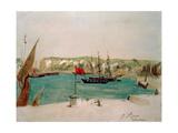 Dieppe: Quai Duquesne Giclee Print by Eugene Delacroix