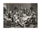 A Midnight Modern Conversation, from 'The Works of William Hogarth', Published 1833 Giclee Print by William Hogarth