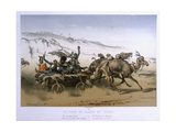 A Pleasure Wagon in the Crimea, Published by Wild 1854-55 Giclee Print by Eugene Charles Francois Guerard