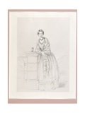 Florence Nightingale with Athena the Owl, Pub. P. and D. Colnaghi, 1855 Giclee Print by Parthenope Nightingale