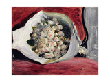 Bouquet in a Theatre Box, C.1878-80 Giclee Print by Pierre-Auguste Renoir