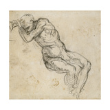 Study of a Male Nude, C.1511 Giclee Print by  Michelangelo Buonarroti