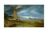 A View of the Scheldt with Antwerp Beyond Giclee Print by Jan Brueghel the Younger