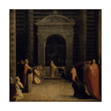 The Offering of the Keys of the City of Siena to the Virgin, on or after 1526 Giclée-tryk af Domenico Beccafumi