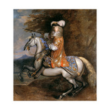 Lord William Cavendish, Later 4th Earl and 1st Duke of Devonshire on Horseback Giclee Print by Adam Frans van der Meulen