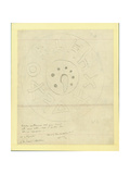 Circular Earthenware Slab from Moab from Shapira's 2nd Collection, 1873 Giclee Print by Claude Conder
