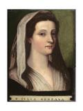 Portrait of Giulia Gonzaga Giclée-tryk af Sebastiano del Piombo