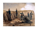 A 13-Inch Mortar of the Royal Artillery in Action, 1855 Giclee Print by Lt. Henry James Alderson