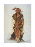 Wahk-Ta-Ge-Li, a Sioux Warrior Giclee Print by Karl Bodmer