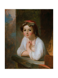 Portrait of a Peasant Girl, 1857 Giclee Print by Thomas Sully