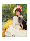 Girl in a Punt Giclee Print by Arthur Hacker