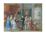 Thomas Howard, 14th Earl of Arundel Is Presented with Arms by His Children to Mark His… Giclee Print by Philip Fruytiers