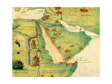 Ethiopia, the Red Sea and Saudi Arabia, from an Atlas of the World in 33 Maps, Venice, 1st… Giclee Print by Battista Agnese