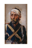 Study of a Wounded Guardsman, Crimea, C.1874 Giclee Print by Lady Butler