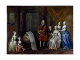 Group Portrait of Frederick, Prince of Wales, with His Brother the Duke of Cumberland and their… Giclee Print by William Aikman