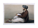 Major Chas Griffiths, 37th Native Infantry, Seated in Afghan Dress, 1842 Giclee Print by Lieutenant Vincent Eyre