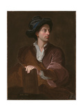 Portrait of Matthew Prior Holding a Book, Wearing a Velvet Coat and Hat Giclee Print by John Francis Rigaud