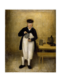 Portrait of the Chatsworth Cellarman, C.1835 Giclee Print by William Baker